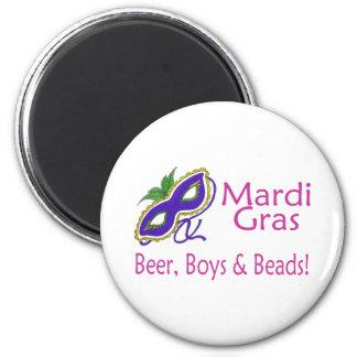 Gotas de los muchachos de la cerveza del carnaval imán