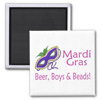 Gotas de los muchachos de la cerveza del carnaval imán de frigorífico