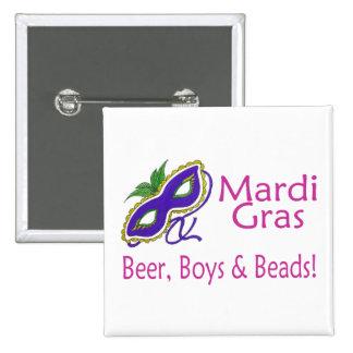 Gotas de los muchachos de la cerveza del carnaval pin