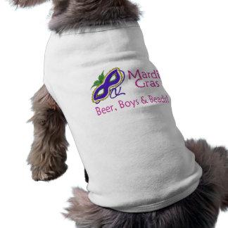 Gotas de los muchachos de la cerveza del carnaval camiseta de perro