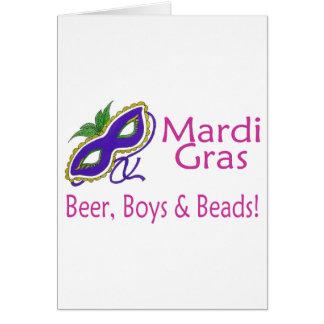Gotas de los muchachos de la cerveza del carnaval tarjeton