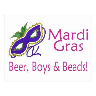 Gotas de los muchachos de la cerveza del carnaval postales