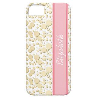 Gotas de oro, modelo de las salpicaduras, funda para iPhone 5 barely there