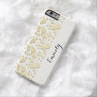Gotas de oro, modelo de las salpicaduras, funda para iPhone 6 barely there
