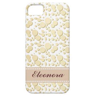Gotas de oro, modelo de las salpicaduras, iPhone 5 carcasas