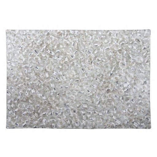 Gotas de plata de la semilla de Rocaille Mantel Individual