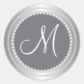 Gotas de plata personalizadas que casan los sellos pegatina redonda