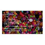 Gotas decorativas multicoloras del arte tarjeta de negocio