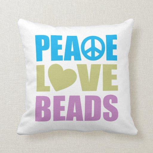 Gotas del amor de la paz cojin
