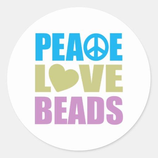 Gotas del amor de la paz pegatina redonda