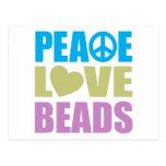 Gotas del amor de la paz tarjetas postales