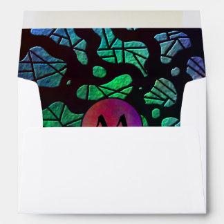 Gotas del arco iris con el monograma en colores