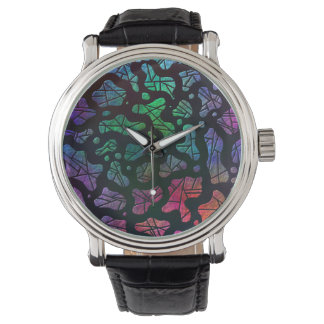 Gotas del arco iris - diseño abstracto colorido reloj de mano
