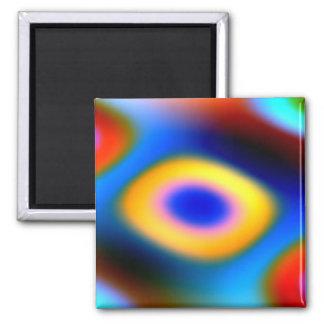 Gotas del color del arco iris imán de nevera