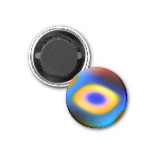 Gotas del color del arco iris iman de frigorífico