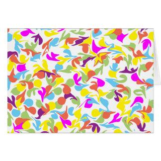 Gotas del color en blanco En blanco-Dentro de la Tarjeta De Felicitación