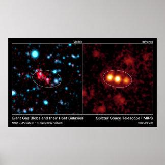 Gotas gigantes del gas y su galaxia del anfitrión poster