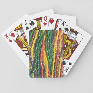 Gotas minúsculas de la semilla barajas de cartas