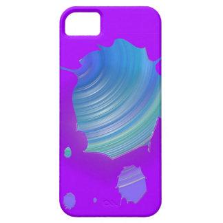 Gotas púrpuras azules iPhone 5 carcasas