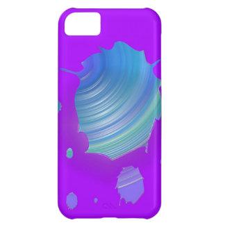 Gotas púrpuras azules funda para iPhone 5C