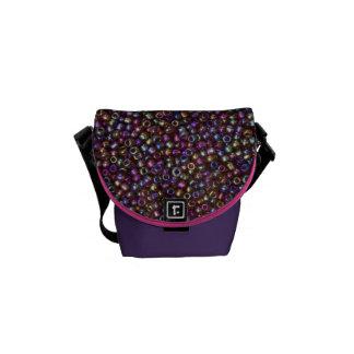 Gotas púrpuras de la semilla de Rocaille del arco Bolsa De Mensajeria