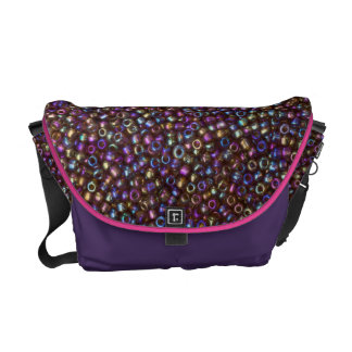 Gotas púrpuras de la semilla de Rocaille del arco Bolsas Messenger