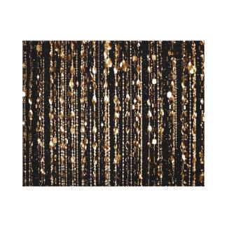 Gotas translúcidas del oro impresionante, negro, l impresiones en lienzo estiradas