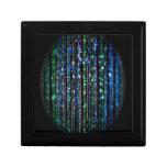 gotas, verde y azul en negro cajas de joyas