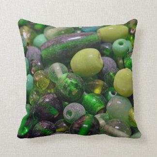 Gotas verdes cojín