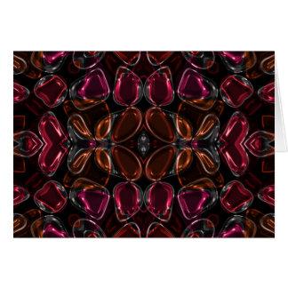 Gotas vidriosas de la flor felicitación
