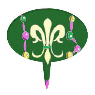 Gotas y flor de lis del carnaval decoración de tarta