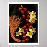 Gotas y flores poster