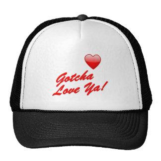 ¡Gotcha amor usted! Gorras