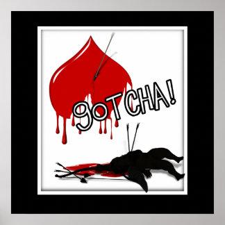 ¡GOTCHA! Cupid abajo (Anti-Tarjeta del día de San  Posters