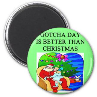 gotcha day adoption christmas idea refrigerator magnet