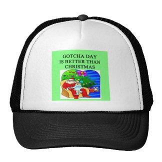 gotcha day adoption christmas idea mesh hats