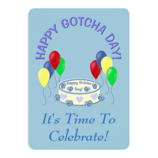 Gotcha Day Boy Party Card