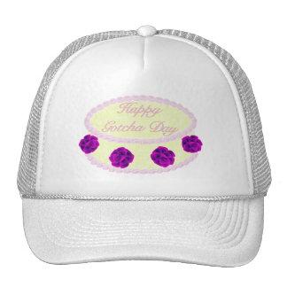 Gotcha Day Cake With Purple Mesh Hats