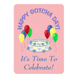 Gotcha Day Daughter Party 5x7 Paper Invitation Card