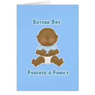 Gotcha Day Forever a Family boy Greeting Card