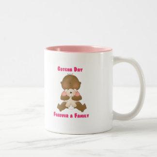 Gotcha Day Forever a Family Two-Tone Coffee Mug