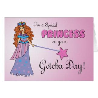 Gotcha Day Pink Princess w/ Sparkly-Look Wand Card