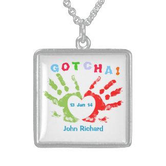 Gotcha Day! Square Pendant Necklace