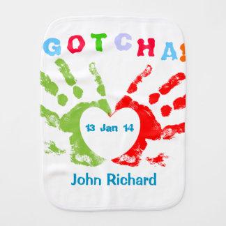 Gotcha Day! Baby Burp Cloth