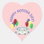 Gotcha día feliz colcomanias corazon personalizadas