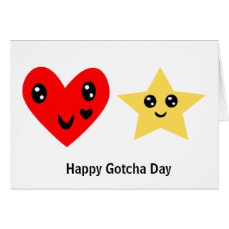 Gotcha día feliz tarjeta de felicitación