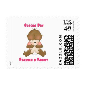 Gotcha día para siempre una familia sellos