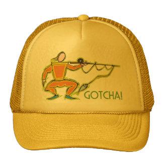 ¡Gotcha - Diseño chistoso del cercado de la pesca Gorra