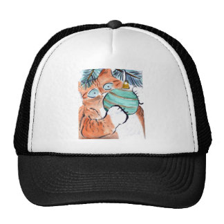 Gotcha el ornamento verde dice el gatito del tigre gorros bordados