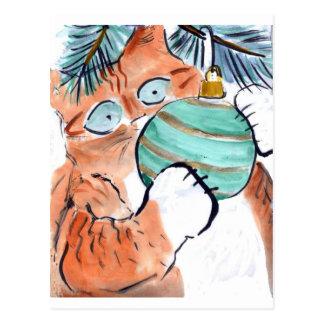 Gotcha el ornamento verde dice el gatito del tigre tarjetas postales